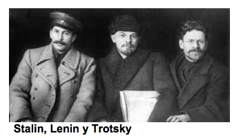 Lenin And Stalin And Trotsky Russian revolutionary leaders